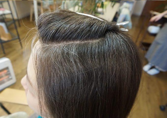 岐阜市のヘナとヘッドスパの美容室月と風のヘナ2度染めの前の画像