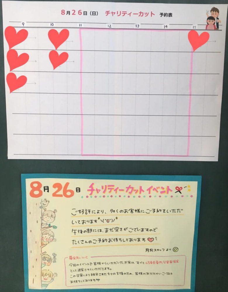 チャリティーキッズカットイベントのお知らせ★
